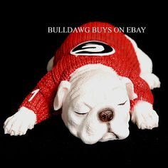 UGA Resin Georgia Bulldog 1 yr Old Puppy Figurine | eBay