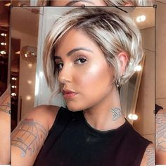 Pixie Bob Haircut, Pixie Cut Wig, Haircut For Thick Hair, Pixie Cuts, Pixie Haircut Styles, Short Hair Cuts For Women, Short Hair Styles, Edgy Short Hair, Beautiful Haircuts