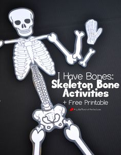 Learning About Bones Activities for Kids and Free Skeleton Printable | A Little Pinch of Perfect