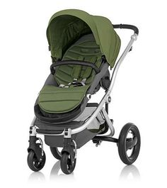 Affinity Stroller by Britax - Silver base frame with Cactus Green color pack #custom #baby #style