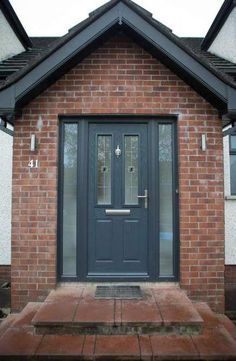 32 ideas for anthracite grey front door diy Understairs Ideas anthracite DIY Door Front Grey Ideas Porch Uk, Front Door Porch, Porch Doors, Front Door Entrance, House Front Door, House With Porch, Porch Awning, Barn Doors, Grey Front Doors