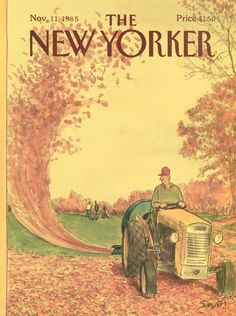The New Yorker - Monday, November 11, 1985 - Issue # 3169 - Vol. 61 - N° 38 - Cover by : Charles Saxon