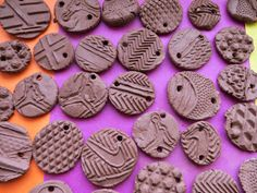 Shoe imprint clay creations