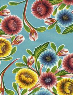 Oilcloth International specializes in the wholesale distribution and retail sale of our oil cloth fabric and products in a wide variety of colors and prints. Large Flowers, Fabric Flowers, Oil Cloth Fabric, Fabric Patterns, Print Patterns, Oilcloth Tablecloth, Tablecloths, Mexican Embroidery, Laminated Fabric