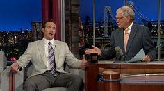 Drew Brees on Letterman in Astor & Black