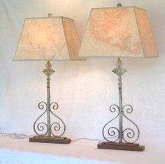 19th century fencing made into lamps