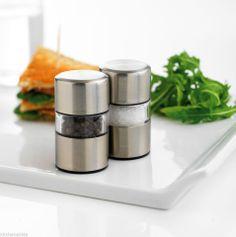 Mastrad Orka Mini Salt And Pepper Mills Set Grinders   Stainless Steel    A27752