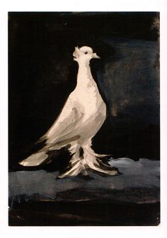 Pablo Picasso: Pigeon. Gouache on paper, 1942.
