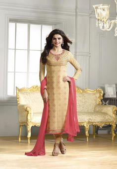 #Kaseesh #Prachi Indian #SalwarKameez Suit Vol22 4293 #Beige