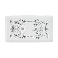 Vintage Serving Platter  Beautiful art nouvea decoration in black and white. Truly lovely