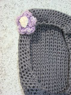 Handmade crochet cell phone case in grey fits by JandVAddicted, $18.00