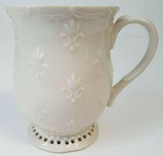 Skye McGhie Cream Lace Footed Ivory Coffee Mug 2003   eBay