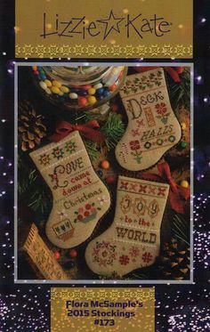 Flora McSample's 2015 Christmas Stockings from Lizzie Kate Counted Cross Stitch Designs Small Cross Stitch, Cross Stitch Fabric, Cross Stitch Kits, Counted Cross Stitch Patterns, Cross Stitch Charts, Cross Stitch Designs, Cross Stitching, Cross Stitch Christmas Stockings, Cross Stitch Stocking