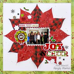 Gorgeous layout from creative team member Allie Stewart using our Classic Christmas collection