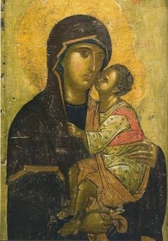 Фотография Byzantine Icons, Byzantine Art, Religious Icons, Religious Art, Our Father In Heaven, Russian Icons, Best Icons, Art Thou, Virgin Mary