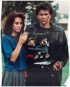 """Winona Ryder and Christian Slater as Veronica Sawyer and JD in """"Heathers"""" Halloween costume idea This would be soooo perfect! My favorite movie! Veronica Heathers, Jd And Veronica, 80s Movies, Great Movies, 80s Movie Costumes, Awesome Movies, Iconic Movies, 90s Cartoon Costumes, Interesting Movies"""