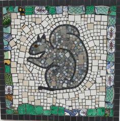 Squirrel mosaic