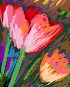 Tulips 2020 Digital creation Still Life, Tulips, Digital, Floral, Artwork, Painting, Work Of Art, Auguste Rodin Artwork, Flowers