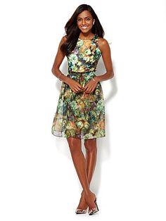 The Organza-Skirt Dress - New York & Company