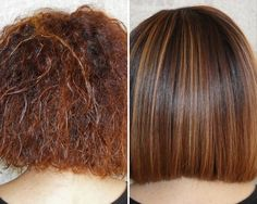 KeraGreen Smoothing Keratin Treatment- Before & After