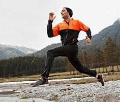 Męska ciepłochronna #kurtka do biegania i ciepłochronne #spodnie do biegania #tchibo