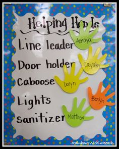 Kindergarten Job Chart via RainbowsWithinReach
