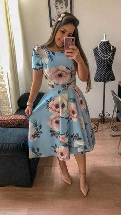 Swans Style is the top online fashion store for women. Shop sexy club dresses, jeans, shoes, bodysuits, skirts and more. Modest Clothing, Modest Dresses, Modest Outfits, Classy Outfits, Skirt Outfits, Modest Fashion, Cute Dresses, Dress Skirt, Vintage Dresses