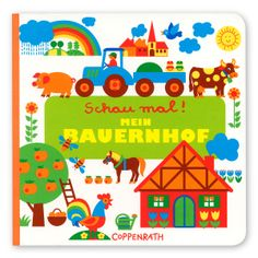 Mein Bauernhof Pappbilderbuch / My farm picture book! Cows, horses and pigs and a few German sentences will show kids lively days on a farm!