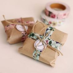 Packaging with washi tape #giftpackaging