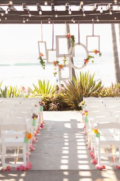 beachside wedding ceremony, photo by She Wanders Photography http://ruffledblog.com/del-mar-powerhouse-wedding #weddingideas #ceremonies #beachwedding