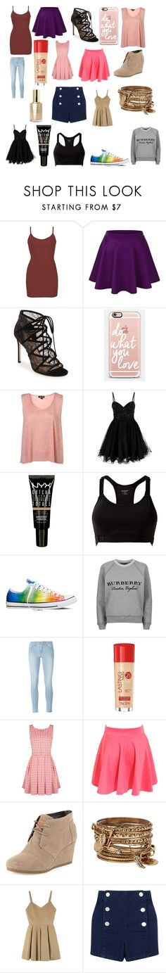 """Haul"" by ceirabear ❤ liked on Polyvore featuring BKE core, Pour La Victoire, Casetify, Unique, NYX, MANGO, Converse, Burberry, Frame Denim and Rimmel"