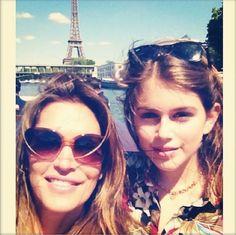 Cindy Crawford & her daughter.