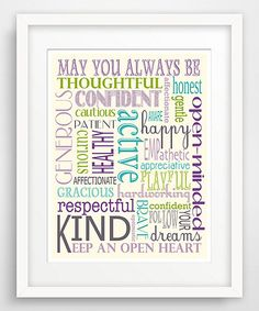 Finny and Zook 'May You Always Be' Word Collage Giclée Print Word Collage, Love Posters, Poster Making, Always Be, Thoughtful Gifts, Giclee Print, Appreciation, Bullet Journal, Invitations