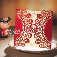 Chinese Wedding Invitation Card Oriental Style WM CW506