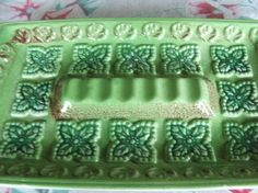 Vintage Japan Ceramic Lime Green Ashtray by lookonmytreasures, $18.20