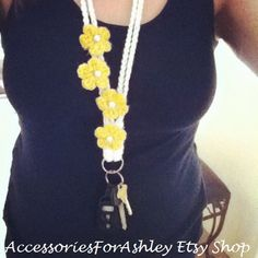 Cute handmade crochet lanyard! Only $13.20 when you use the coupon code Back2school ALL PROCEEDS GO TO A GREAT CAUSE!