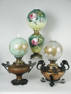 Gone with the Wind Lamps Light Em Up, Light In The Dark, Vintage Hurricane Lamps, When We Get Married, Antique Oil Lamps, French Table, Kerosene Lamp, Lantern Lamp, Cool Lamps