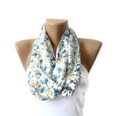 floral scarf . women infinity Scarf . circle scarf . fashion accessories . Loop Scarf . Cowl . Nomad Tube . spring . fall fashion