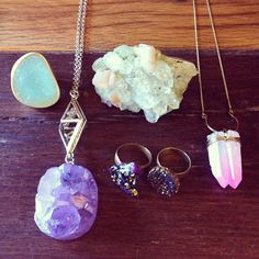 Hard rock. #crystal #jewelry #urbanoutfitters