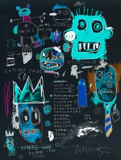 JEAN MICHEL BASQUIAT at nightMore Pins Like This At FOSTERGINGER @ Pinterest