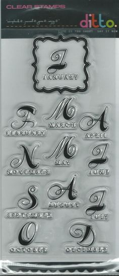Hampton Arts Brand Clear Acrylic Stamp Set by CynthiasCraftingNook