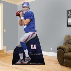 Eli Manning Stand Out | New York Giants Man Cave | New York Giants Party Décor