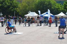 Journée Handisport Passion Partage, place d'Armes à Toulon, le 17 mai 2014.Démo d'Handi-Fitness