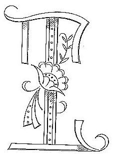 """Broderie D'Antan: Embroidery Patterns (19 Monograms for """"T"""")"""