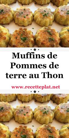 Discover this delicious recipe for tuna potato muffins, easy and simple - Healthy Muffin Recipes, Healthy Muffins, Ww Recipes, Fish Recipes, Easy Dinner Recipes, Easy Meals, Weight Watchers Muffins, Batch Cooking, Gourmet
