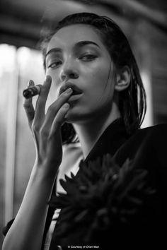 Team Mizuhara — Kiko Mizuhara for FHM Collections. Cigars And Women, Women Smoking Cigars, Smoking Ladies, Cigar Smoking, Girl Smoking, Good Cigars, Cigars And Whiskey, Cuban Cigars, Mujeres Tattoo