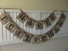 Camo Happy Retirement Banner Bunting Garland Sign by EncoreBanners, $30.00