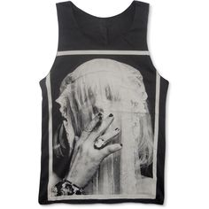 COURTNEY LOVE HOLE Celebrity Skin Tank Top 90s Alternative Rock... ($17) ❤ liked on Polyvore featuring tops, shirts, tank tops, tanks, rock shirts, collar top, collared tank top, collared shirt and round collar shirt