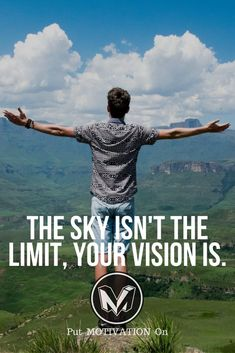 Your vision is the limit. Follow all our motivational and inspirational quotes. Follow the link to Get our Motivational and Inspirational Apparel and Home Décor. #quote #quotes #qotd #quoteoftheday #motivation #inspiredaily #inspiration #entrepreneurship #goals #dreams #hustle #grind #successquotes #businessquotes #lifestyle #success #fitness #businessman #businessWoman #Inspirational