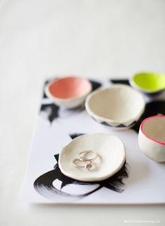 Making DIY pinch pots with Crayola air-dry clay